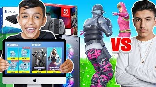 Beat Me In A Fortnite 1v1 And I Will Buy You Anything You Want Challenge With Little Brother!