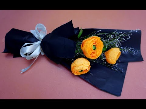 How To Make Paper Flower Bouquet At Home - Beautiful bouquet for special days