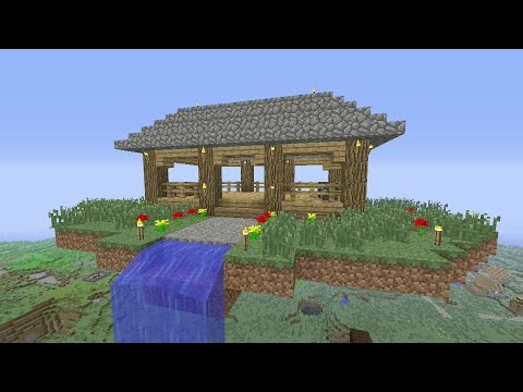 Minecraft Tutorial: How To Make An Awesome SKY!! Survival House (ASH#18)