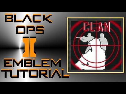 Call of Duty Black Ops 2 : Customizable Sniper Clan Emblem Tutorial