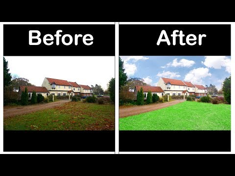 Real Estate Photo Retouch in photoshop -Photoshop Tutorial