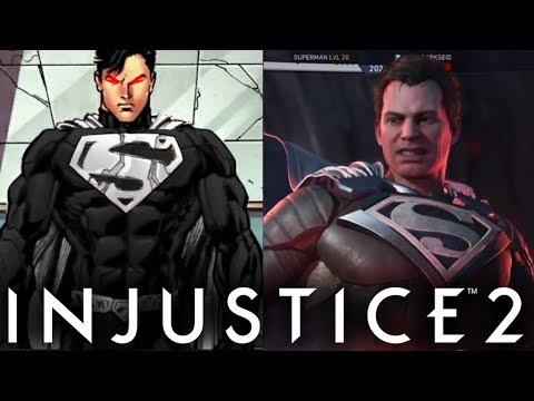 Injustice 2 - How to make Black Suit Superman