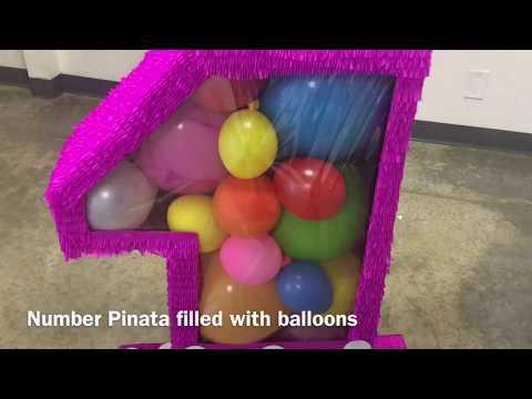 Number Pinata 1 filled with balloons Birthday pinatas