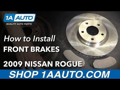 How to Install Replace Front Brake Pads Rotors 2008-12 Nissan Rogue