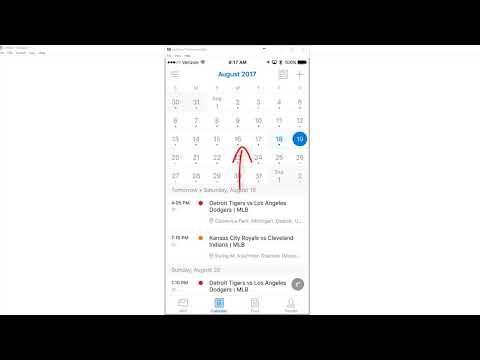 View 5 weeks in Outlook app Calendar