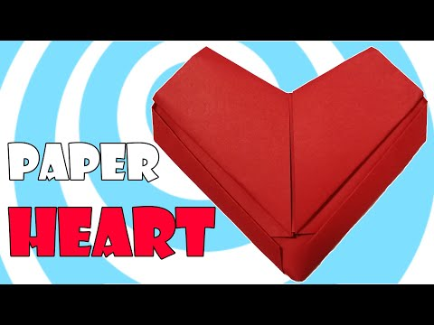 Simple Paper Origami Heart Tutorial