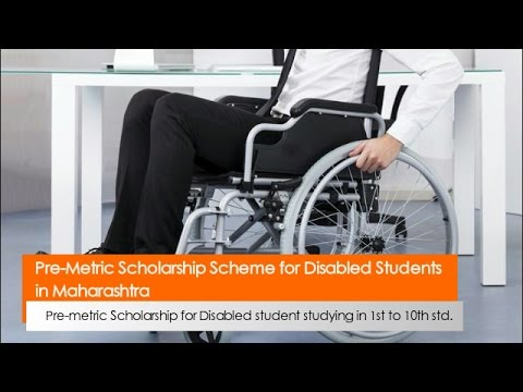 Pre Metric Scholarship Scheme for Disabled Students in Maharashtra