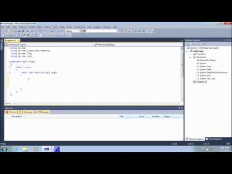 how to write a console application in visual studio 2010