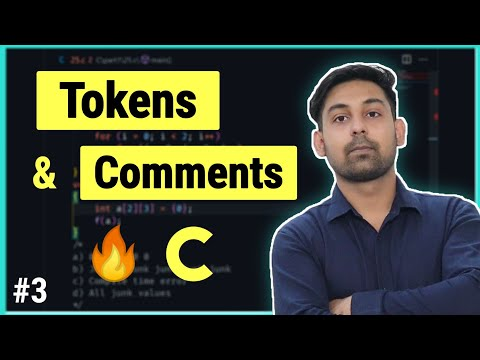 #3 Tokens & Comments in C Programming Langauge ( Hindi )