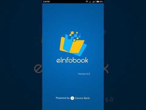 Canara Bank E infobook application registration procedure In Hindi