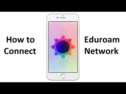 How to connect to Eduroam network - iPhone/iPad