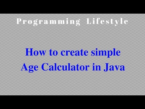 How to create simple Age Calculator in Java