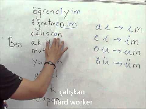 Online Turkish Lesson basic1 part1