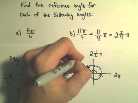 Reference Angle for an Angle, Ex 2 (Using Radians)