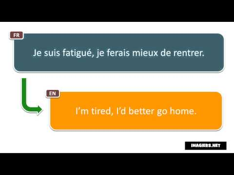 Say it in French = I'm tired, I'd better go home