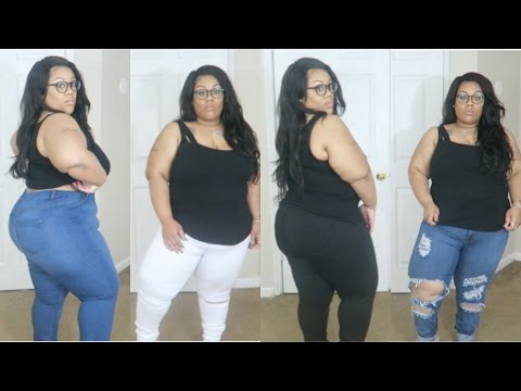 Jeans that make your butt look great |Fashion Nova Plus Size Try on
