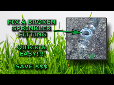 How to Fix a Sprinkler Pipe Fitting