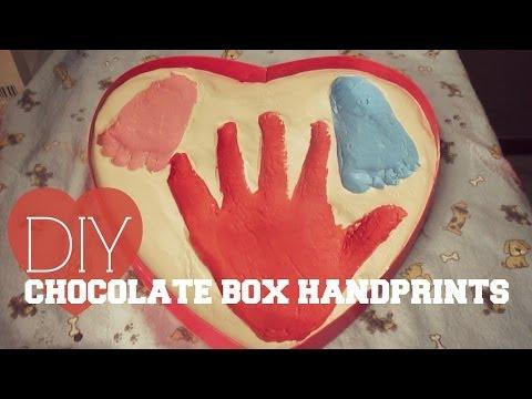 DIY Chocolate Box Handprints