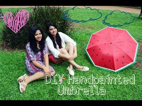 D I Y +Hand painted+Umbrella 1
