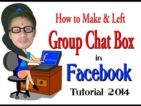 How to Make and Left Group Chat Box in Facebook: Tutorial 2014