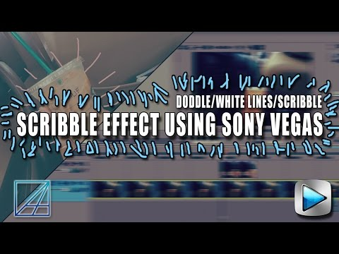 How To Make Doddle Effect on Sony Vegas Pro Scribble Effects 2017