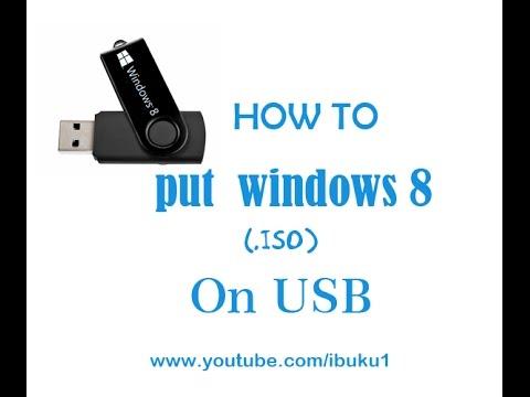 Ultraiso: How to Put  Windows 8 iso on usb