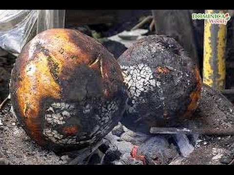 HOW TO MAKE JAMAICAN ROAST BREAD FRUIT 2015
