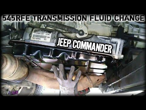 JEEP COMMANDER TRANSMISSION FLUID & FILTER CHANGE