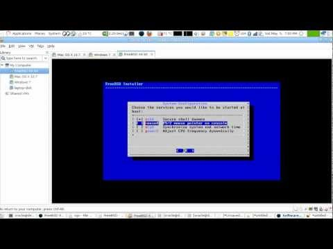 Lesson 1 FreeBSD Unix: Downloading and Installing 8.x (English Version)