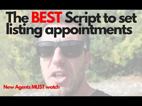 The BEST Script To Set Listing Appointments