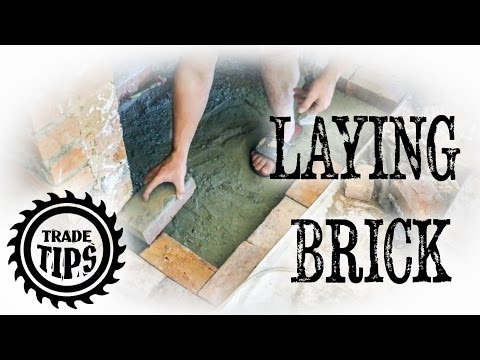 How to Lay Brick Pavers for Chimney Hearth - Trade Tips