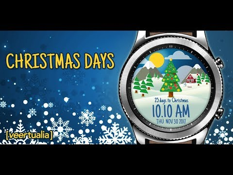 Christmas Days | Animated Christmas watch face | Gear S2 / Gear S3 version