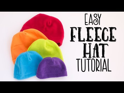 Easy Fleece Hat Tutorial (Free Pattern)