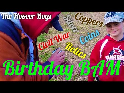 Metal Detecting Big Old Copper Coins & Civil War Relics | Birthday BAM