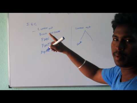 How to Get Import Export Code (IEC) in Tamil- Part 1