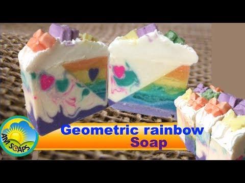 Geometric rainbow Soap