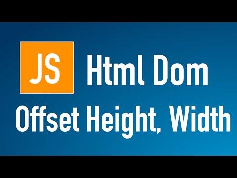 Learn JS HTML Dom In Arabic #26 - Elements - Offset [ Height, Width ]