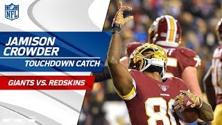 Crowder Comes Down w/ 2 Big Catches to Give Redskins the Lead! | Giants vs. Redskins | NFL Wk 12
