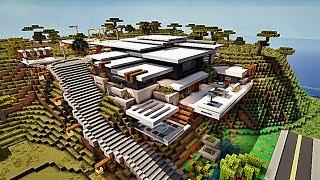 Minecraft : Let\'s Tuto : Maison Ultra Moderne 1 - Part 1 ...
