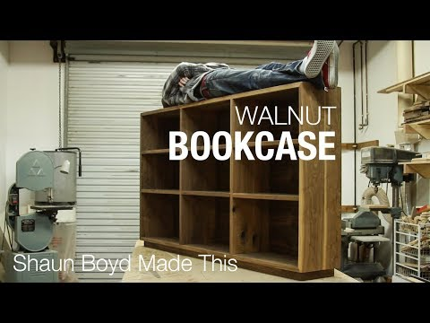 Building a Solid Walnut Bookcase - Shaun Boyd Made This