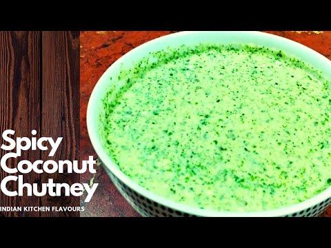 Spicy Minty Coconut Chutney | Spicy Coconut Chutney Mint Flavour | Mint Coconut Chutney