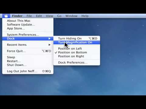 Using the Apple Menu on a Mac