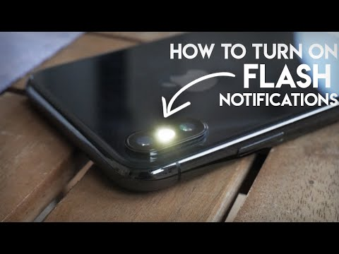How to Make Your iPhone Flash When You Get a Text / When Ringing