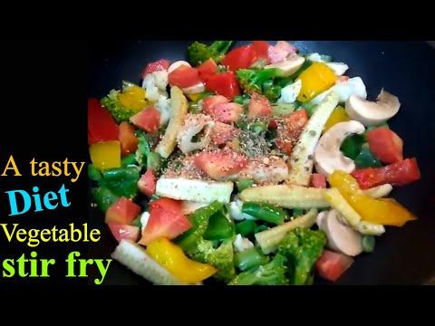 Vegetable stir fry | Stir fried vegetables recipe | Healthy recipe | Weight lose recipe