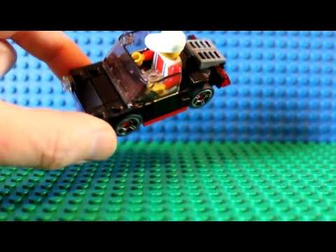 Legotown Porsche - How to Build Your Own Lego Minifig Sports Car - Town 2011