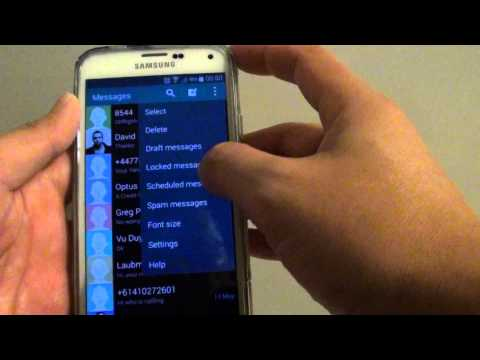 Samsung Galaxy S5: How to Enable/Disable Text Messages Notifications