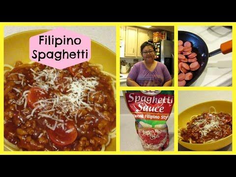How to make Filipino Spaghetti.