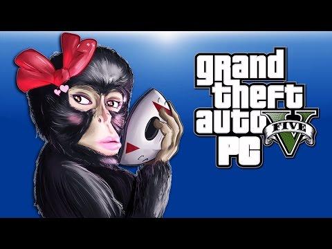 GTA 5 PC Funny Moments - Animal Skins!, Monkey Stripper, Chicken Crossing!