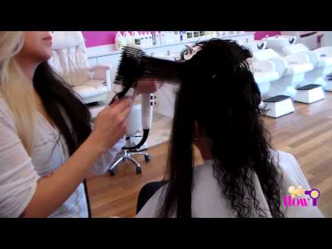 How to Blow Dry Curly, Thick Hair (FLOW Blow Dry & Beauty Bar)