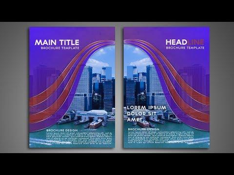 How to design Bi fold brochure   Photoshop tutorial   Hindi / Urdu